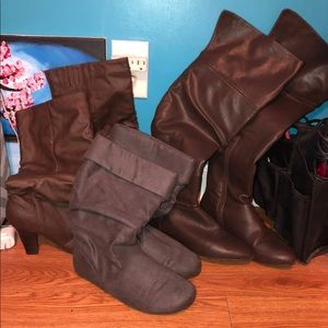 AMAZING Bundle of 3 Pairs Of Boots SIZE 7